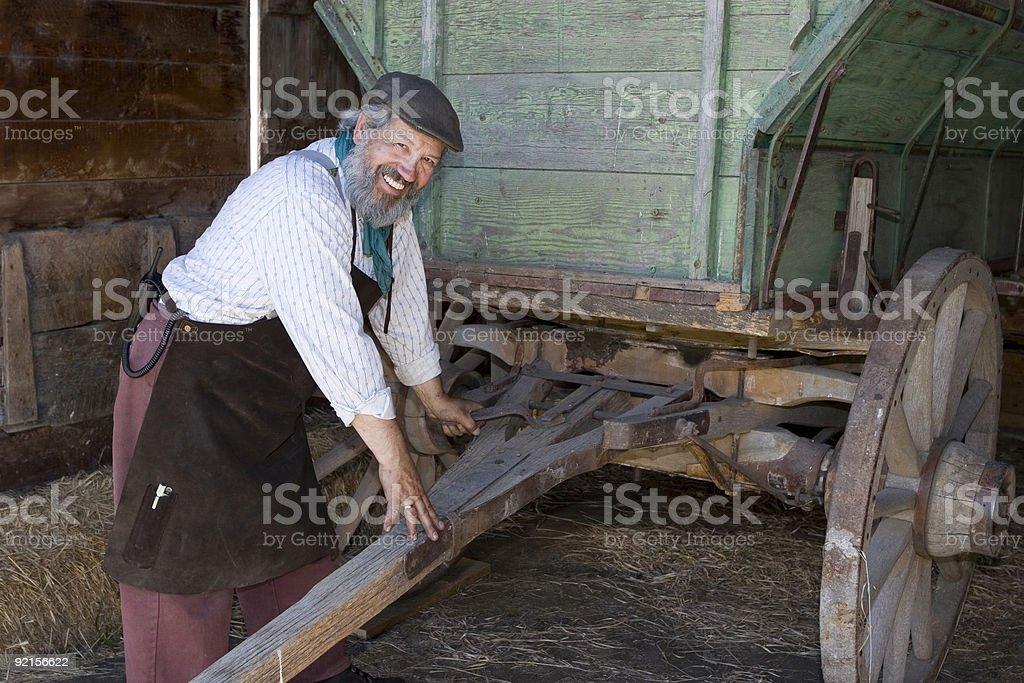 Preparing Hitch stock photo