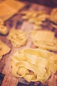 Preparing Homemade Pasta in Domestic Kitchen