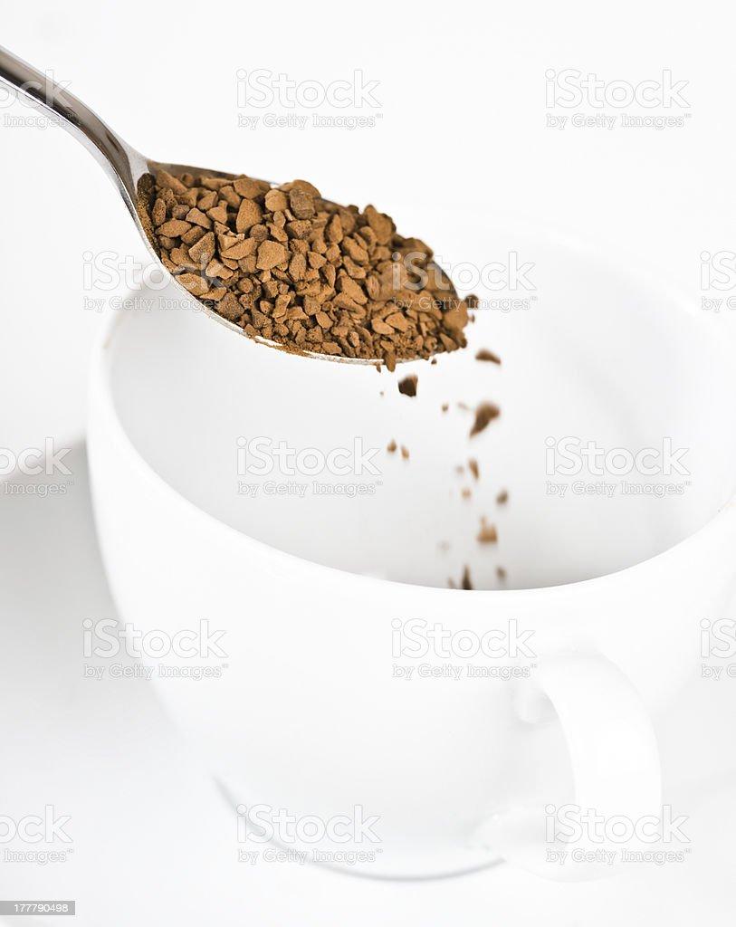 Preparing instant coffee royalty-free stock photo