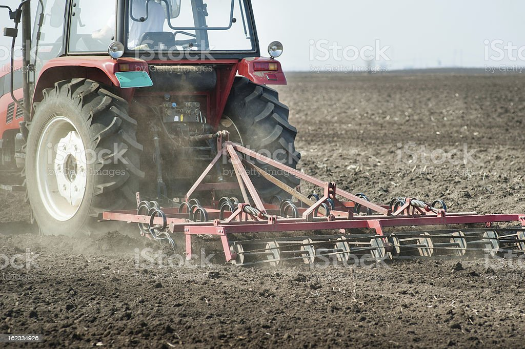 preparing land for sowing royalty-free stock photo