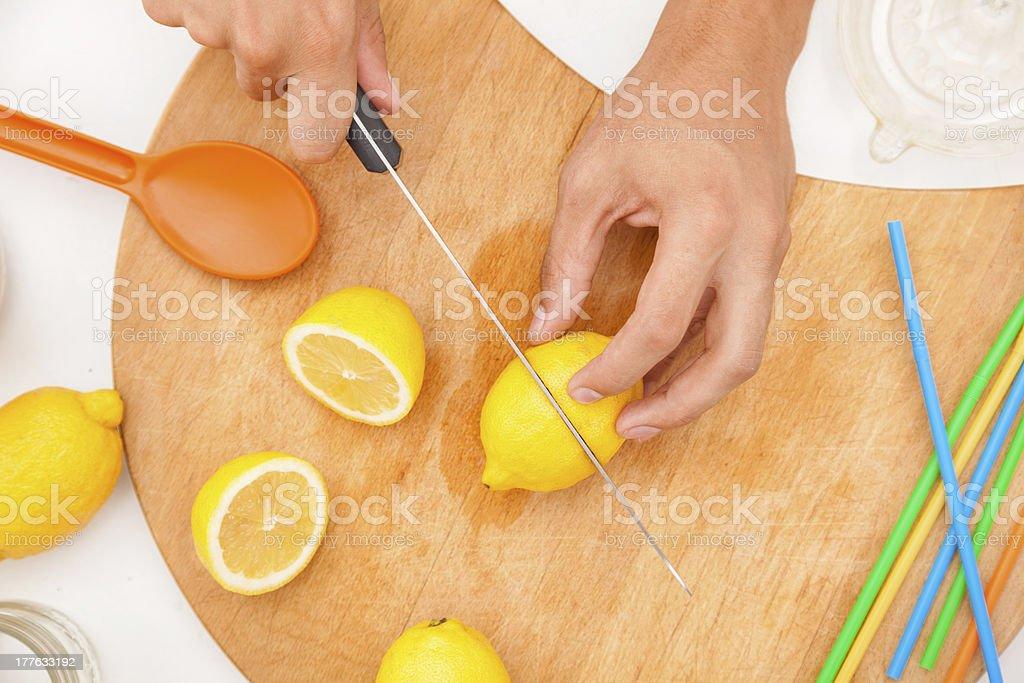 Preparing lemonade royalty-free stock photo