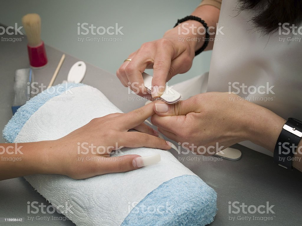 Preparing Manicure royalty-free stock photo