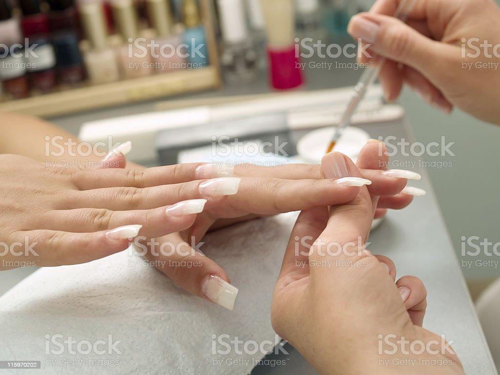Preparing Manicure royalty-free stock photo