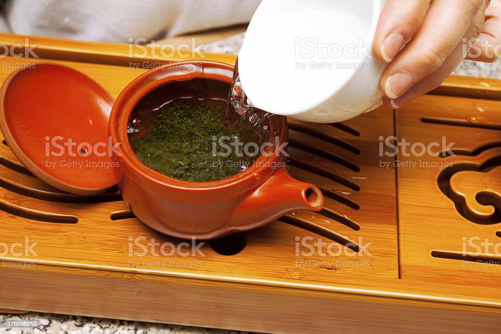 Preparing Matcha tea royalty-free stock photo