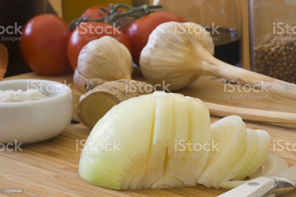 Preparing Onion Hz royalty-free stock photo