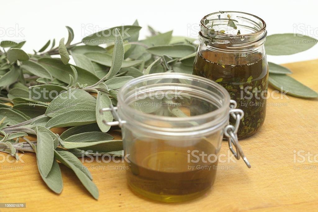 Preparing organic medicinal  oil royalty-free stock photo