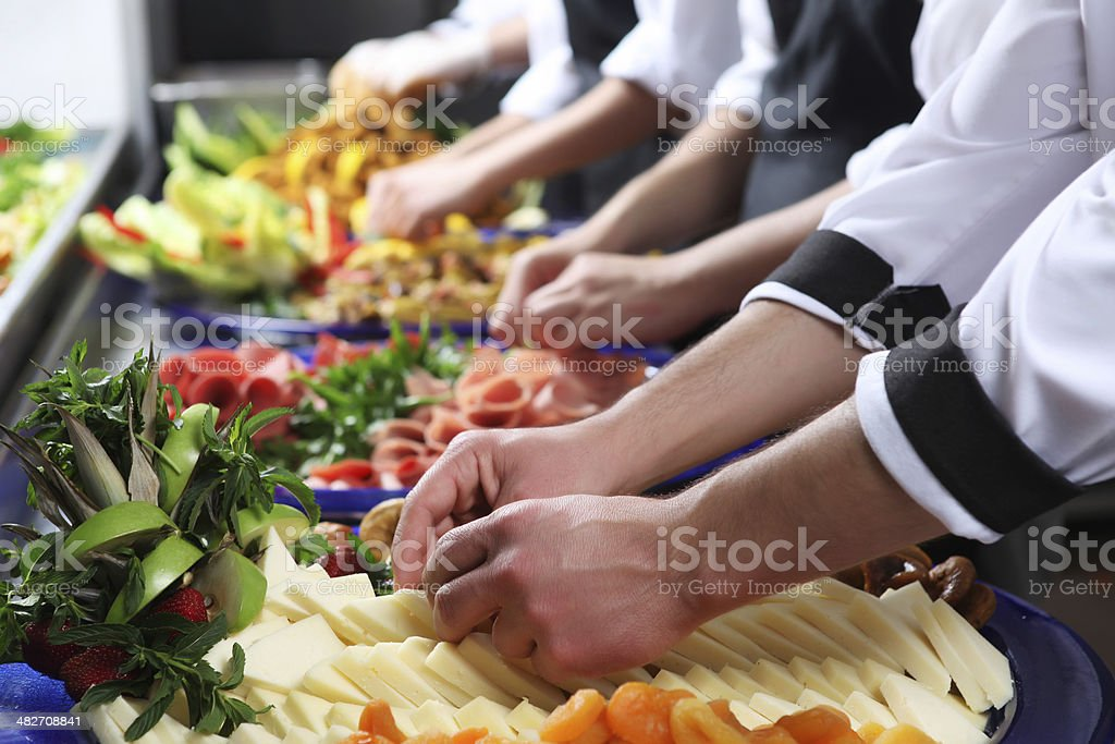 Preparing stock photo