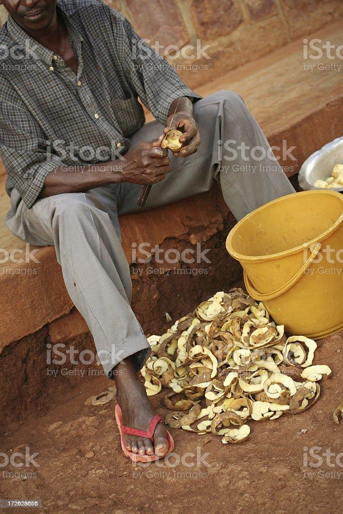 Preparing Potatos royalty-free stock photo