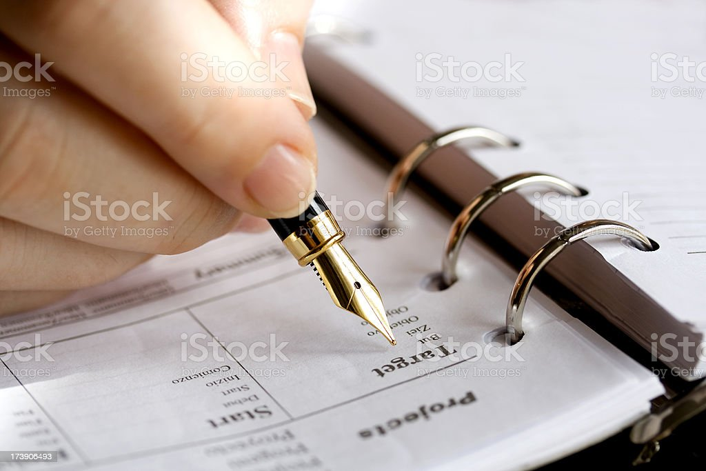 Preparing project royalty-free stock photo