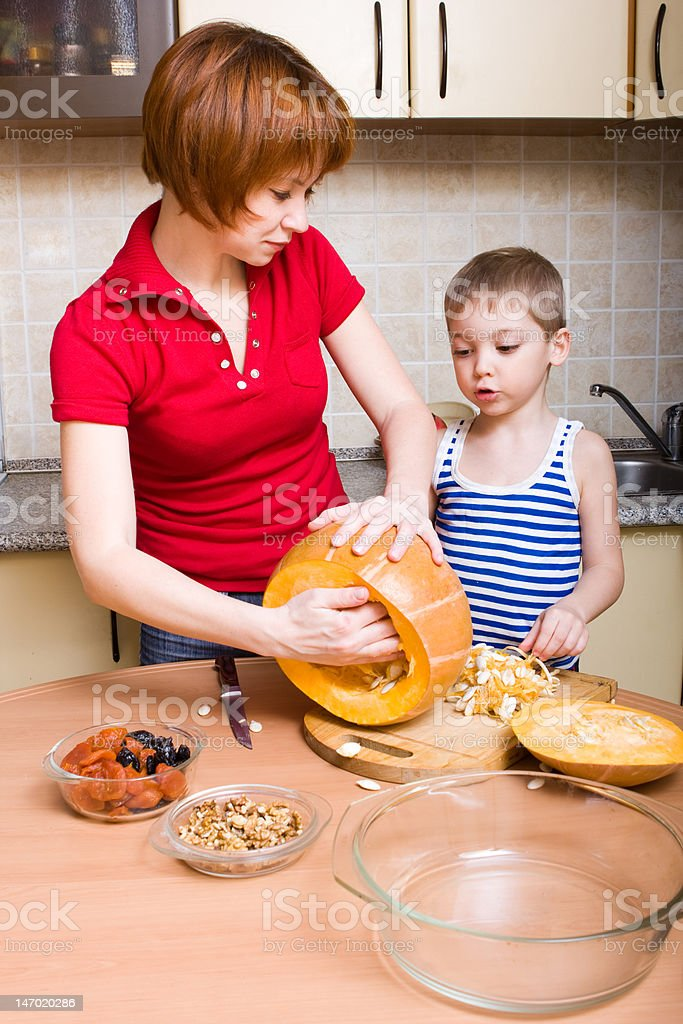 Preparing pumpkin royalty-free stock photo