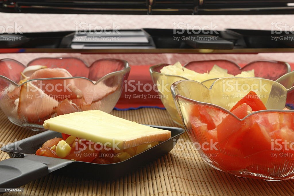 Preparing Raclette royalty-free stock photo