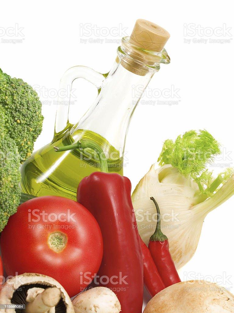 Preparing Salad royalty-free stock photo