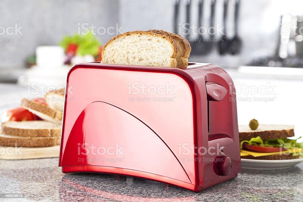 Preparing Sandwich stock photo