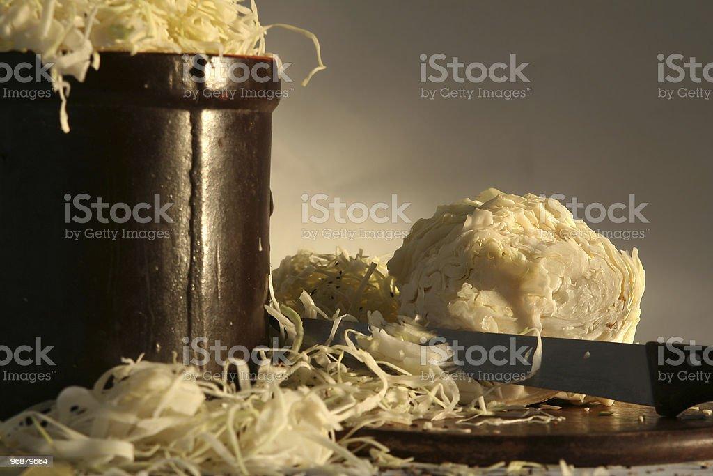 Preparing sauerkraft royalty-free stock photo