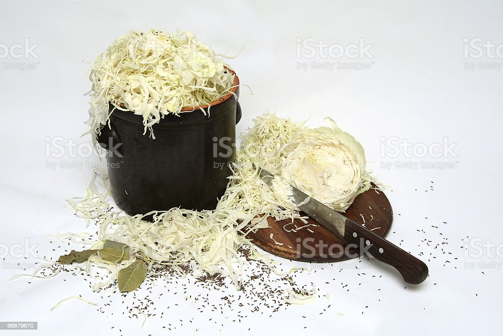 Preparing sauerkraft royalty-free stock photo