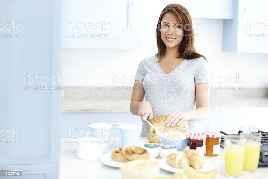 Preparing something wholesome stock photo