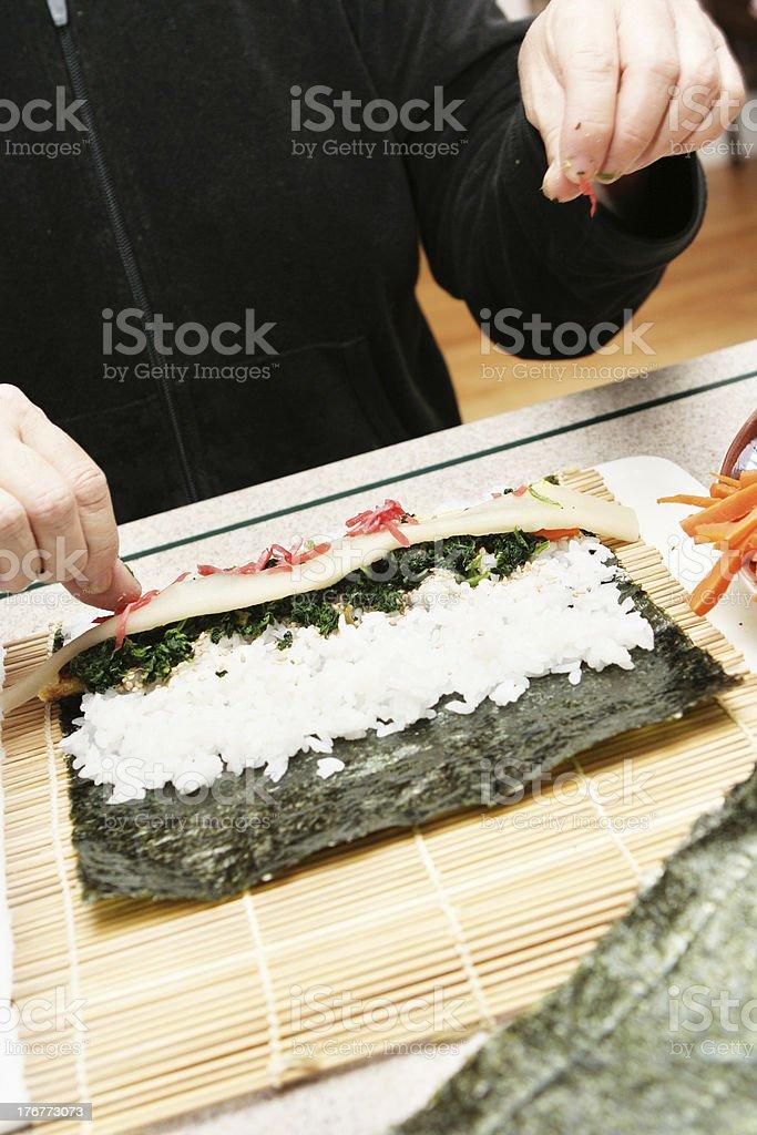 Preparing Sushi for Dinner royalty-free stock photo