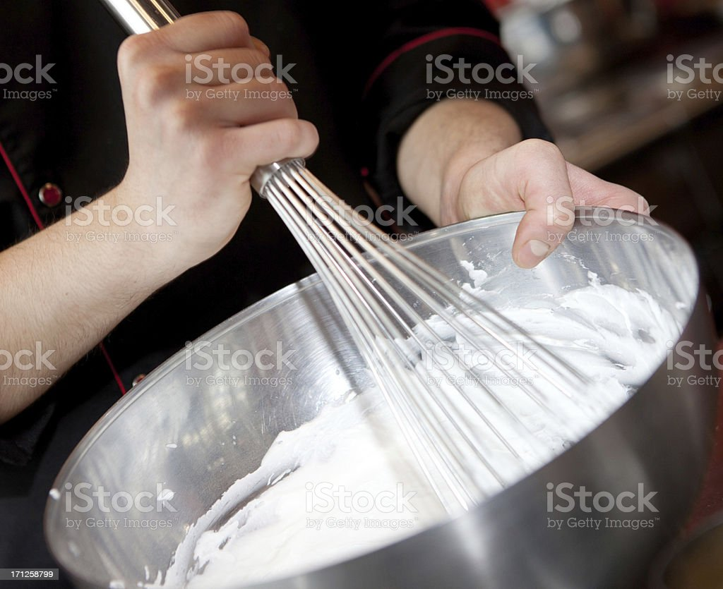 Preparing sweet cream royalty-free stock photo
