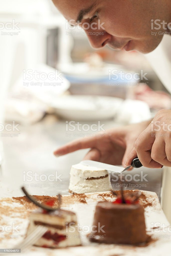 Preparing Sweets royalty-free stock photo