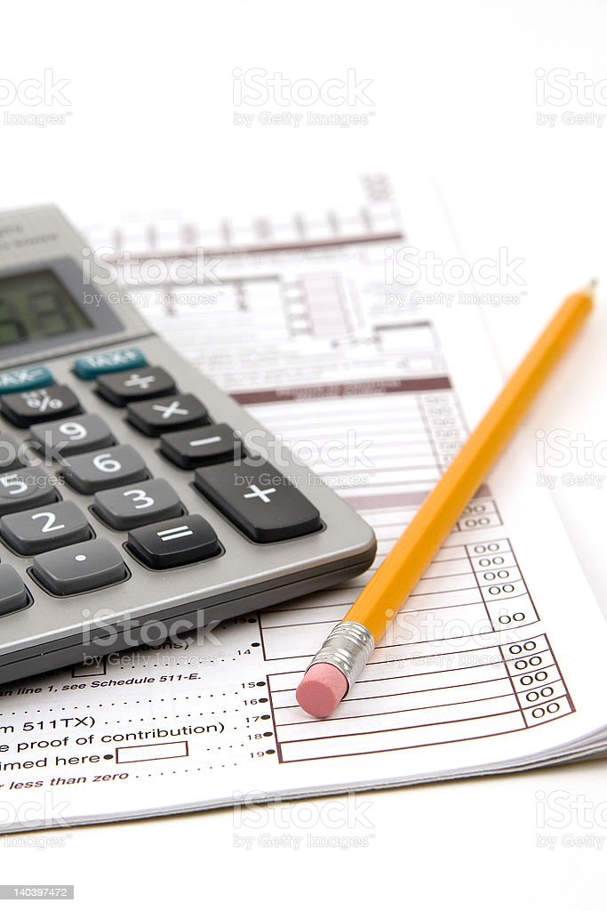 Preparing Taxes royalty-free stock photo