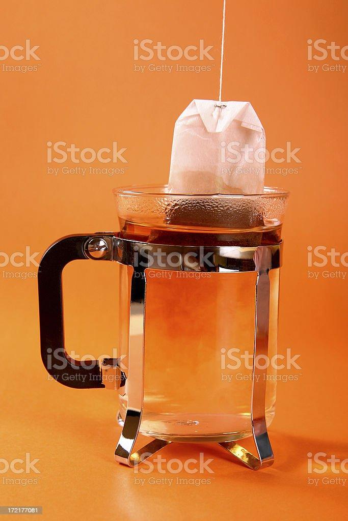 Preparing tea royalty-free stock photo