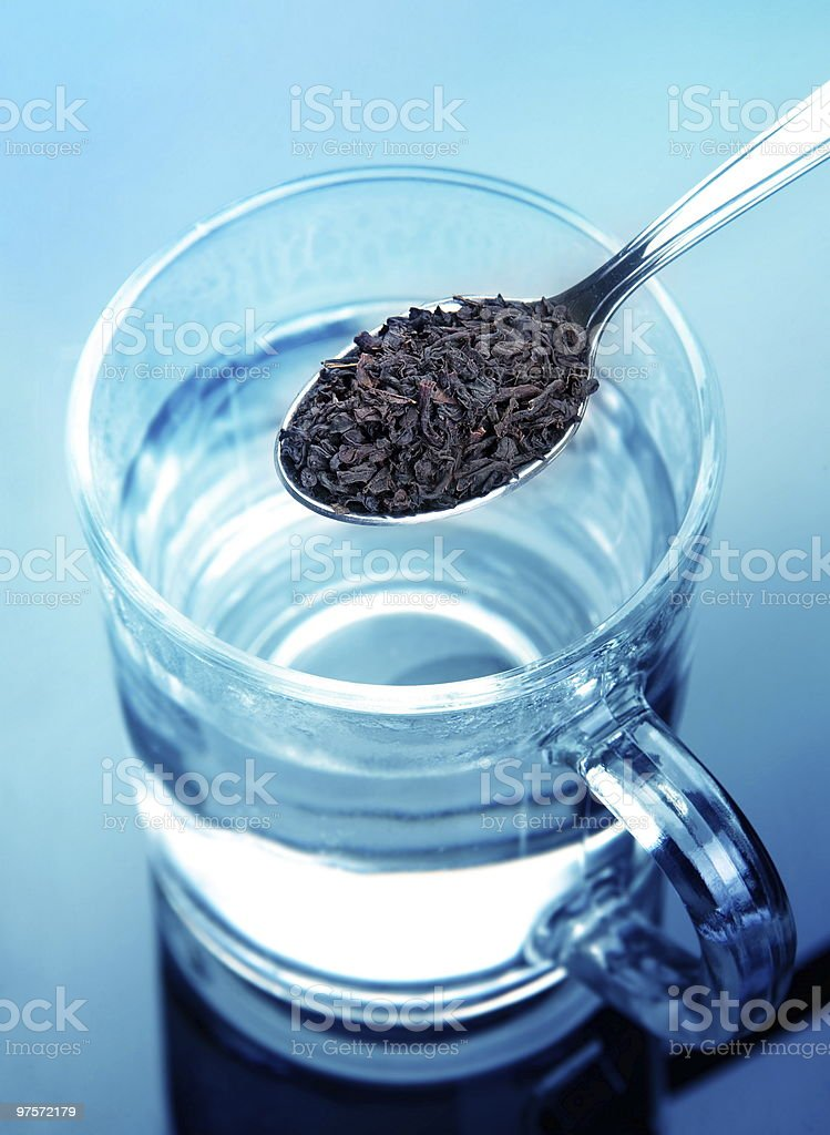 Preparing tea royalty-free stock photo