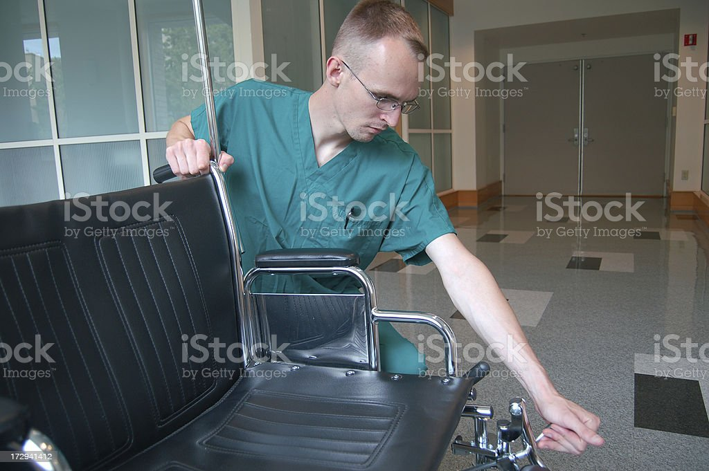 Preparing the Chair royalty-free stock photo