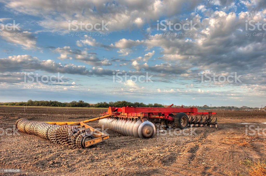 Preparing the fields for the next crop stock photo