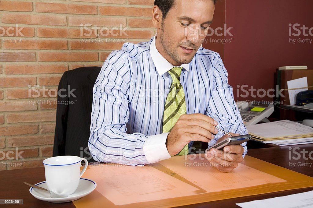 Preparing the schedule royalty-free stock photo