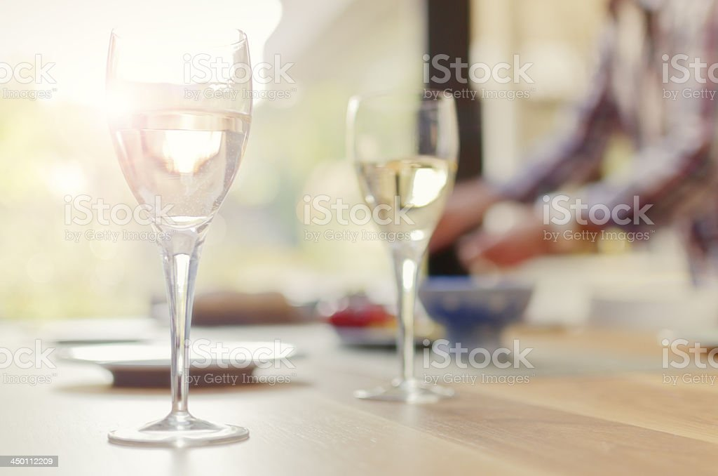 Preparing the table royalty-free stock photo
