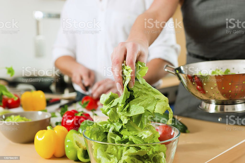 Preparing the vegetables and salad royalty-free stock photo