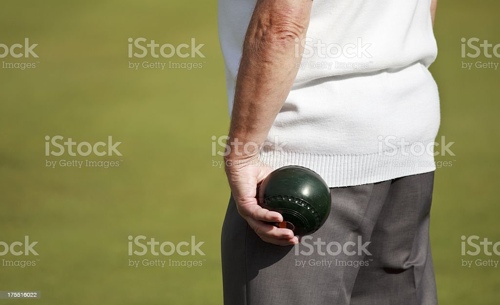 Preparing to Bowl stock photo