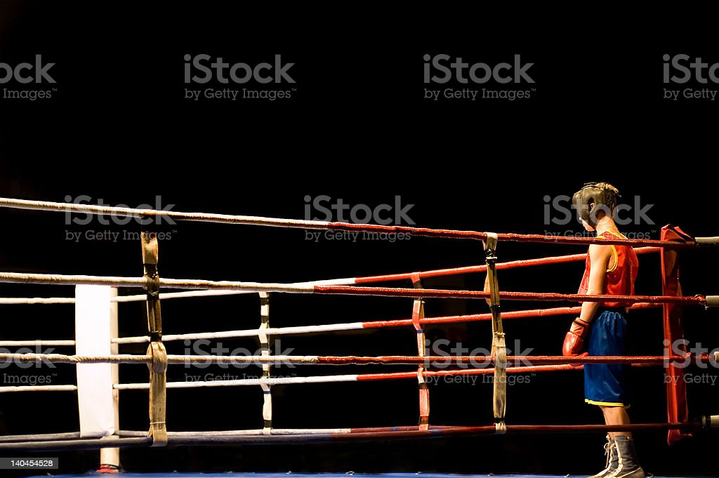 Preparing to boxing fight stock photo