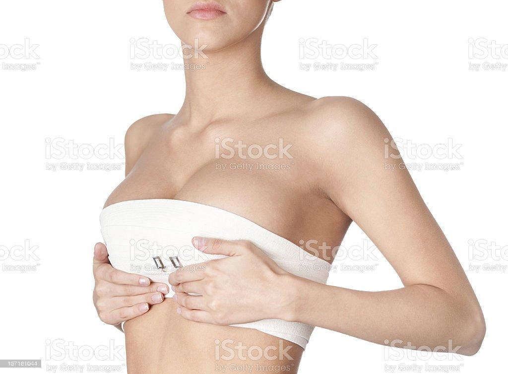 Preparing to breast correction stock photo