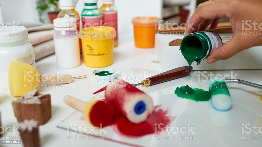 Preparing to create stock photo