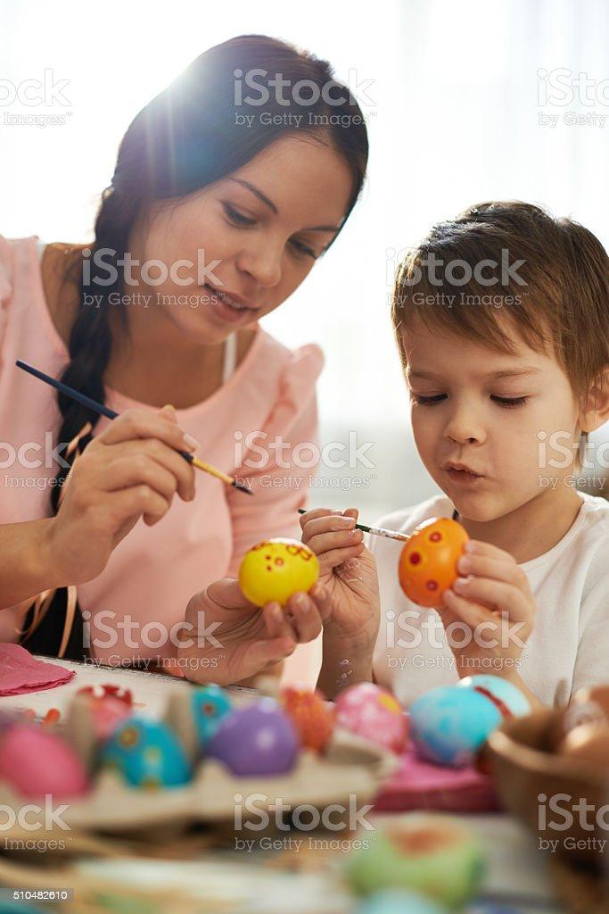 Preparing to Easter stock photo