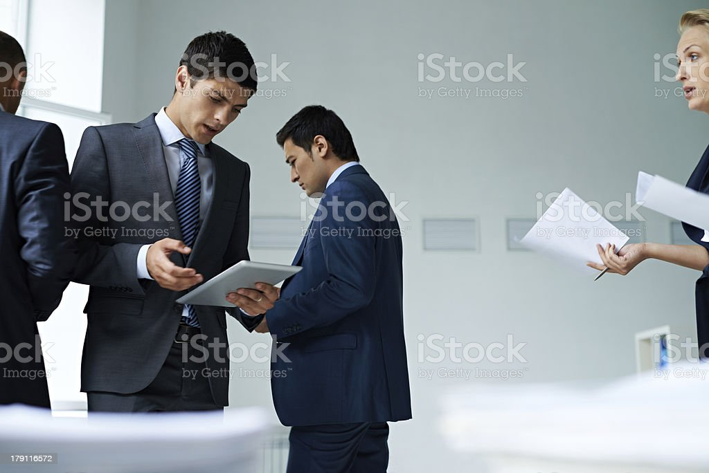 Preparing to financial report royalty-free stock photo