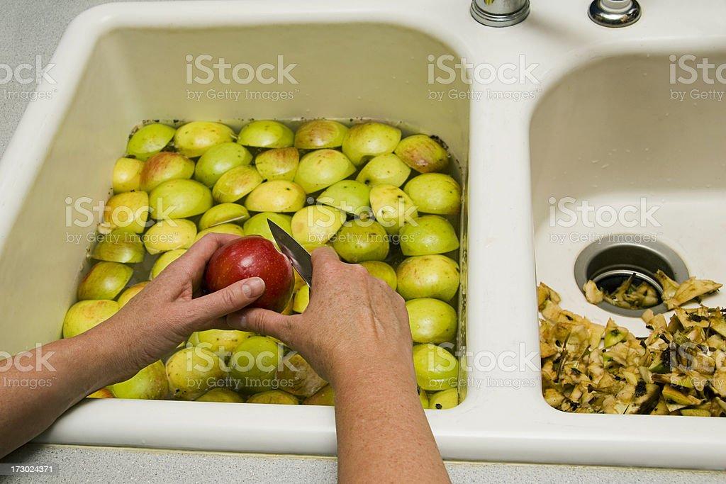 Preparing to make applesauce royalty-free stock photo