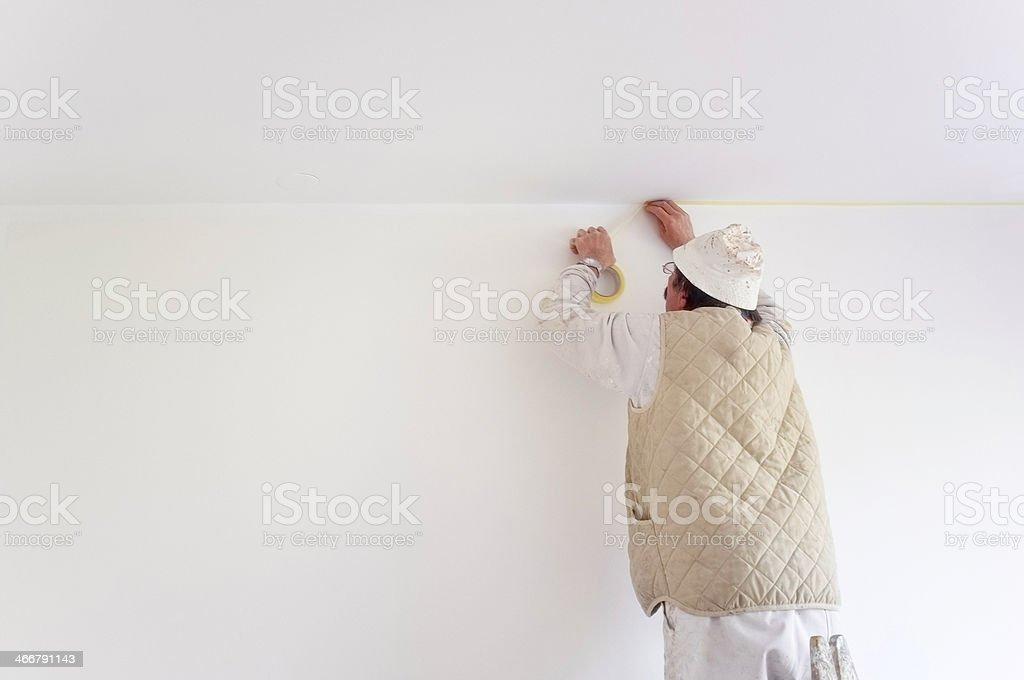 Preparing to Paint stock photo