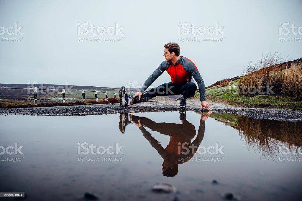 Preparing to run! stock photo