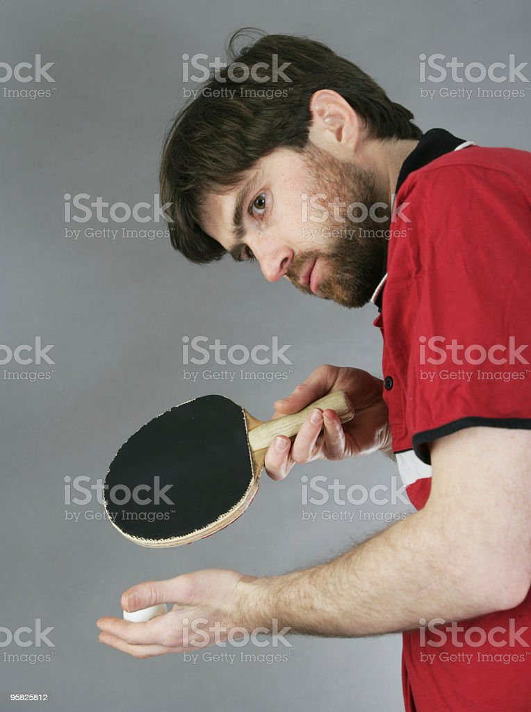 Preparing to serve royalty-free stock photo
