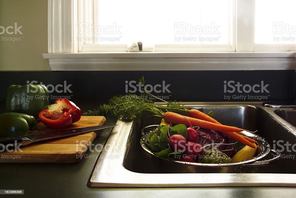 preparing vegetables royalty-free stock photo