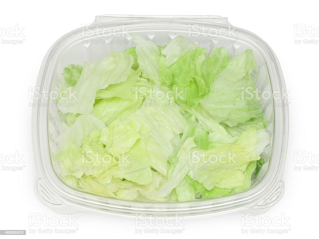 Prepped Lettuce (PATH) royalty-free stock photo
