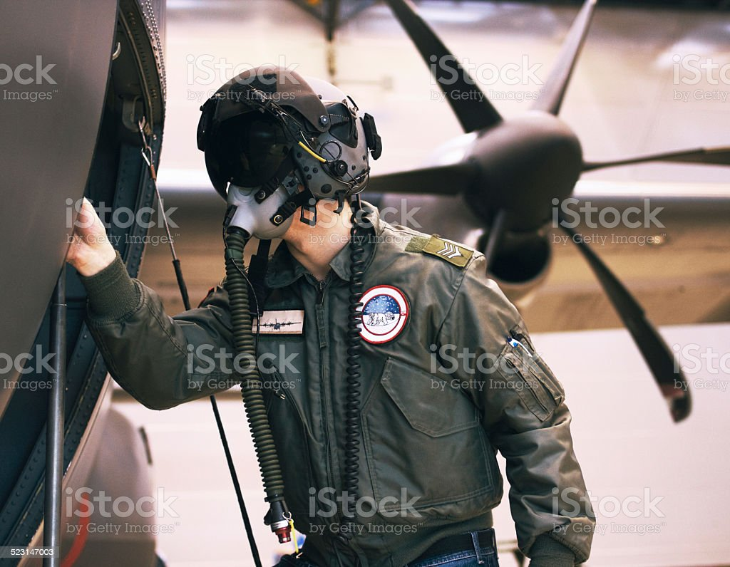 Prepping for war stock photo