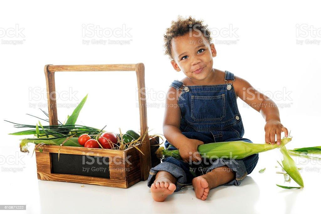 Prepping the Veggies stock photo
