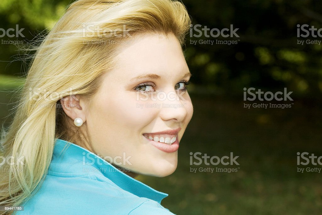 Preppy Blond stock photo