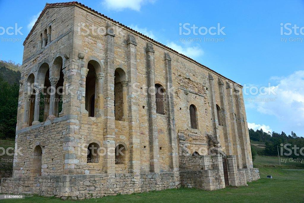 Preromanesque church stock photo