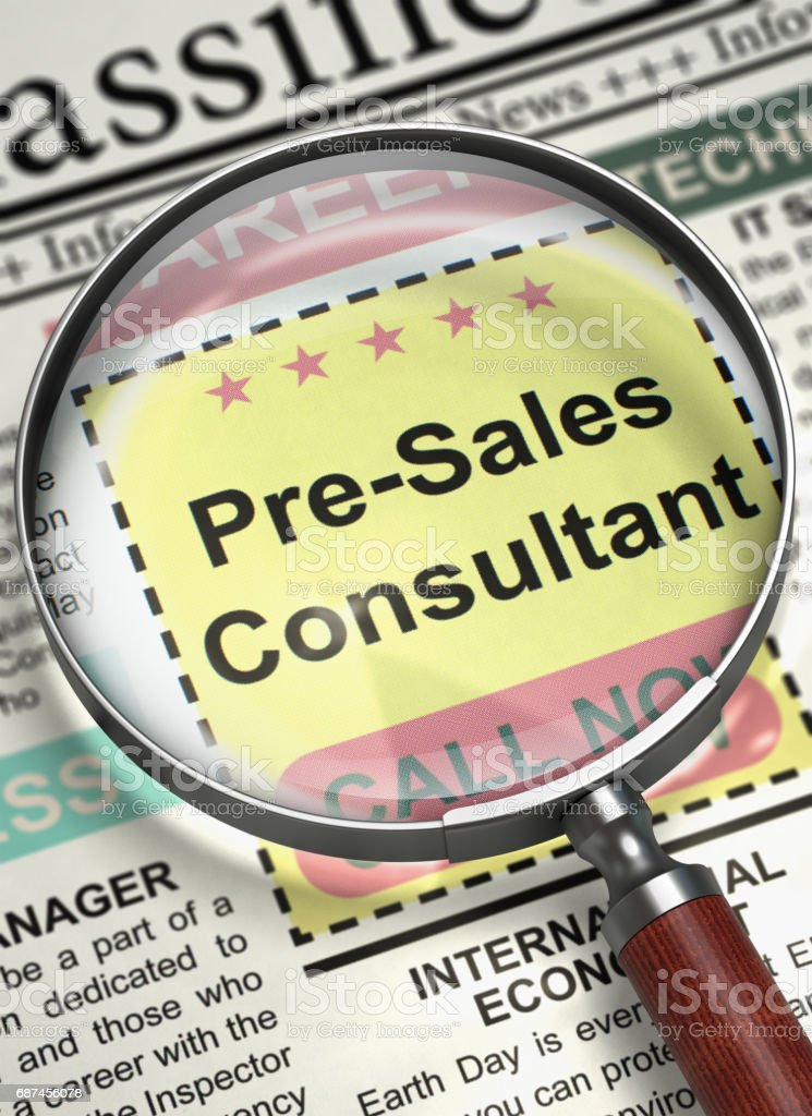 Pre-Sales Consultant Join Our Team. 3D stock photo