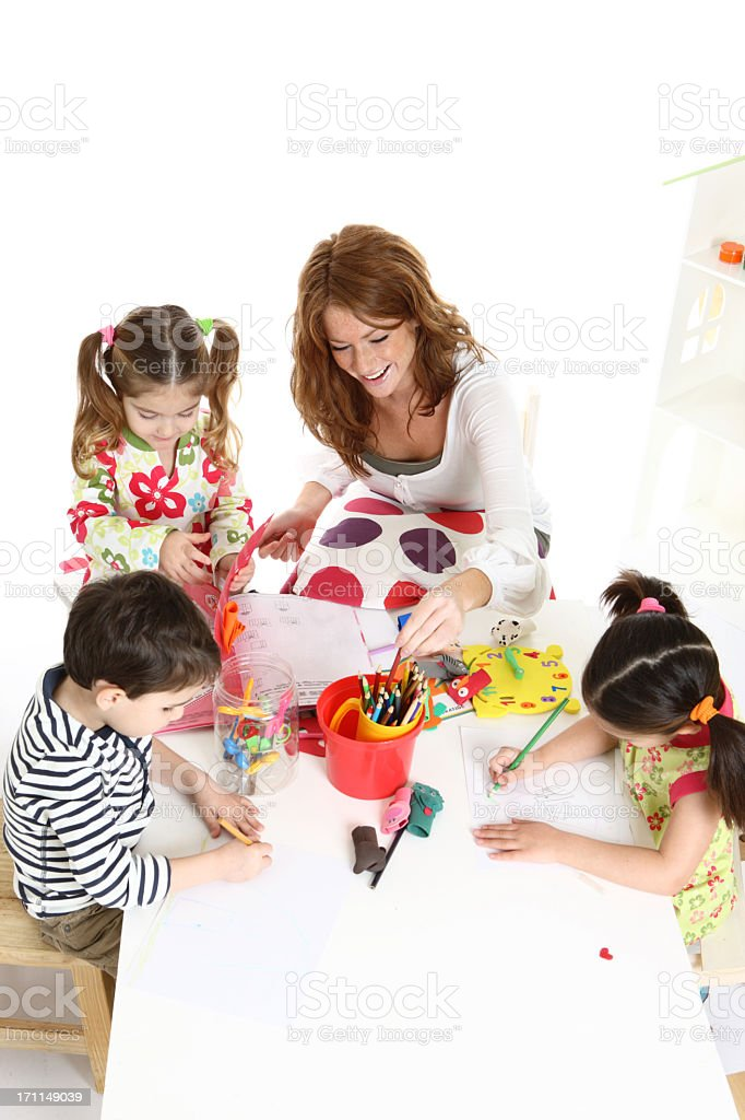 Preschool activities royalty-free stock photo