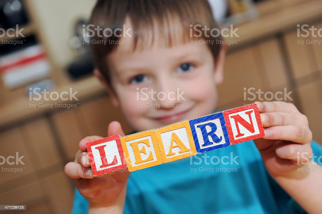 Pre-school and the Word 'LEARN'. royalty-free stock photo